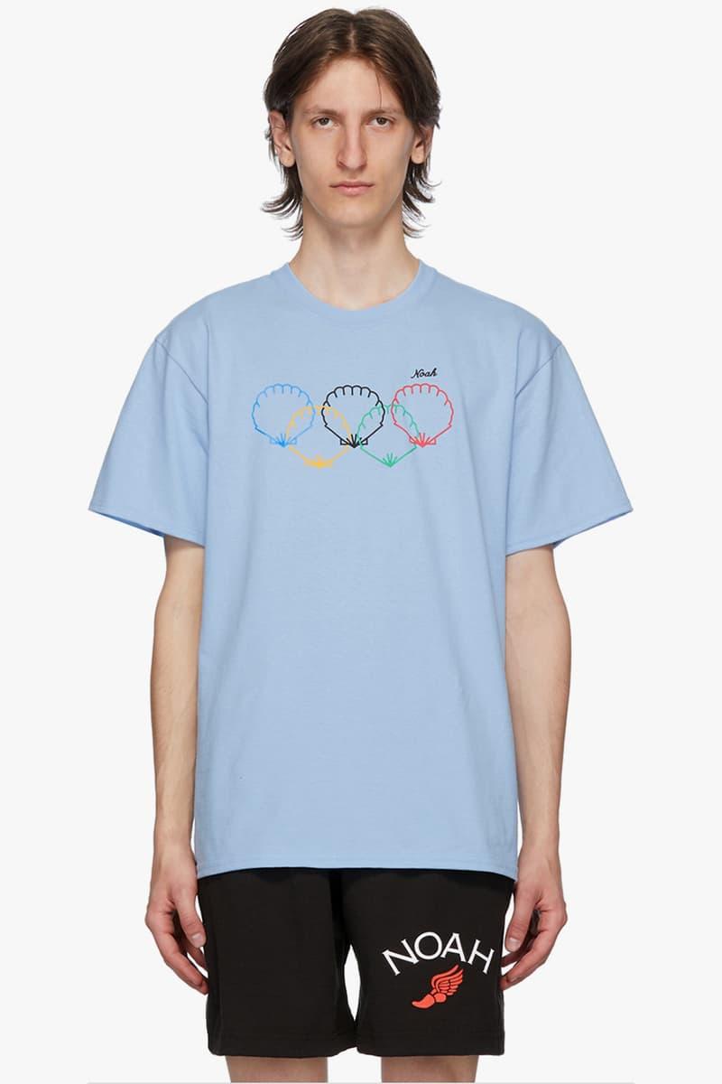 Noah 推出奧運主題「扇貝貝殼」圖案 T-Shirt