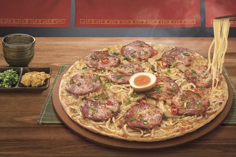 Pizza Hut 攜手「麵屋武藏」打造最新聯名「一口入魂拉麵」披薩