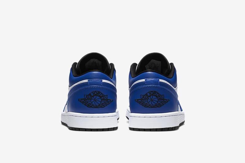 Air Jordan 1 Low 再度推出以「Royal Blue」為主軸的新配色