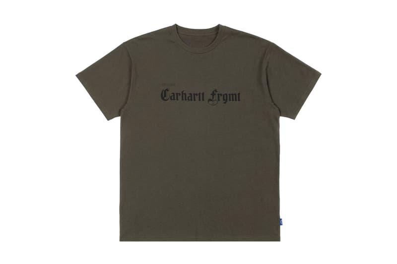 Carhartt WIP x fragment design 台北獨佔限定 T-Shirt 發售情報公開