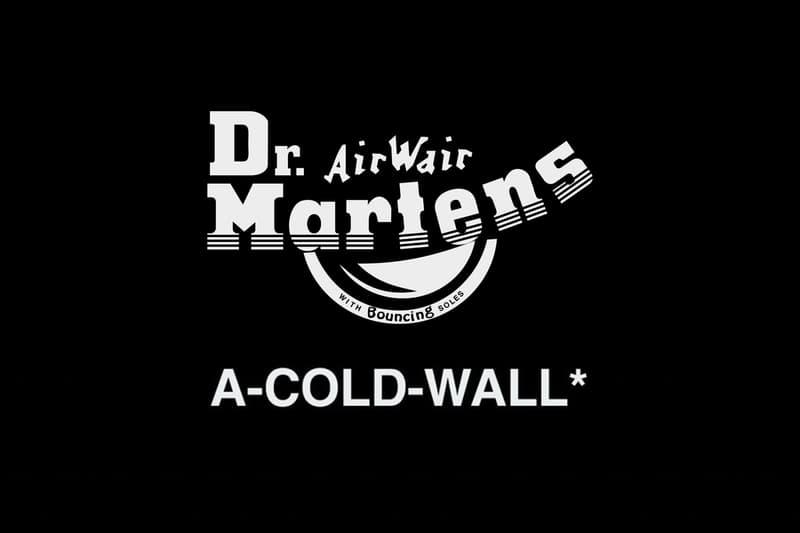 A-COLD-WALL* 揭示將聯同 Dr. Martens 推出別注鞋款