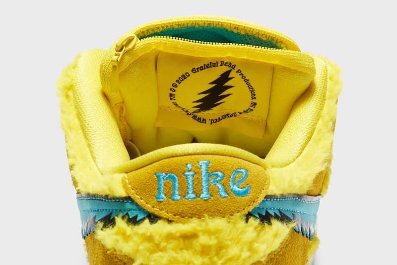 Grateful Dead x Nike SB Dunk Low 最新聯名配色「Opti Yellow」即將發售