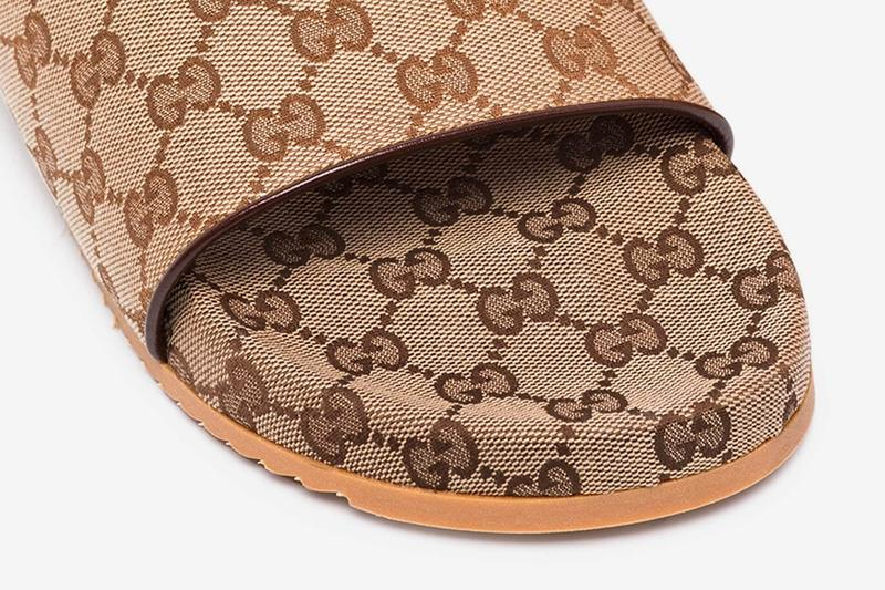 Gucci 全新棕色 GG Monogram 拖鞋上架