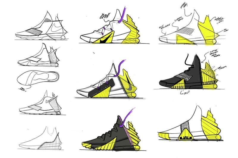 率先預覽 LeBron James 最新簽名戰靴 Nike LeBron 18 設計手稿