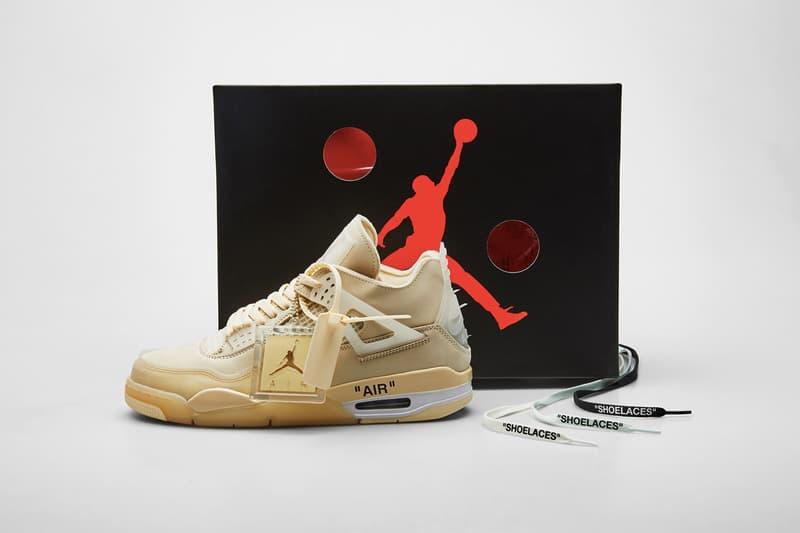 Off-White™ x Air Jordan 4「Sail」最新聯名鞋款於 END. 開放投籤中