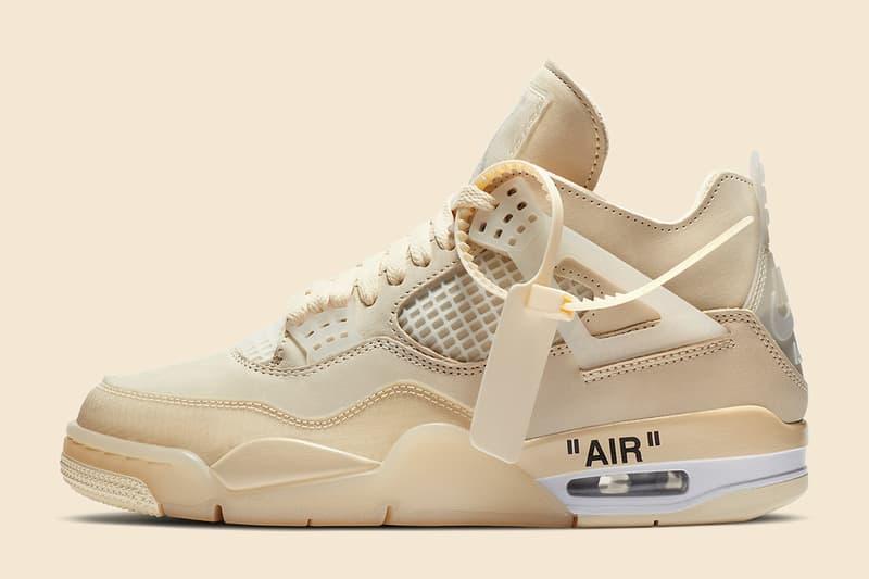 Off-White™ x Air Jordan 4「 Sail」鞋款官方圖輯正式公開