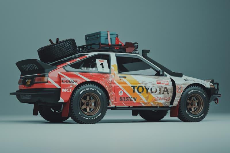 藝術家打造 Toyoto AE86 越野版本改裝車型「Pandemic」