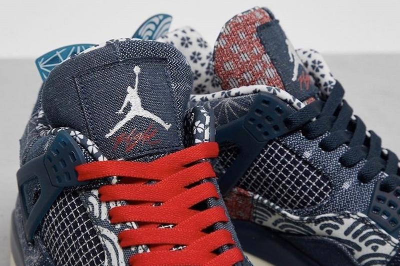 率先一覽 Air Jordan 4 全新刺子繡別注配色「Sashiko」