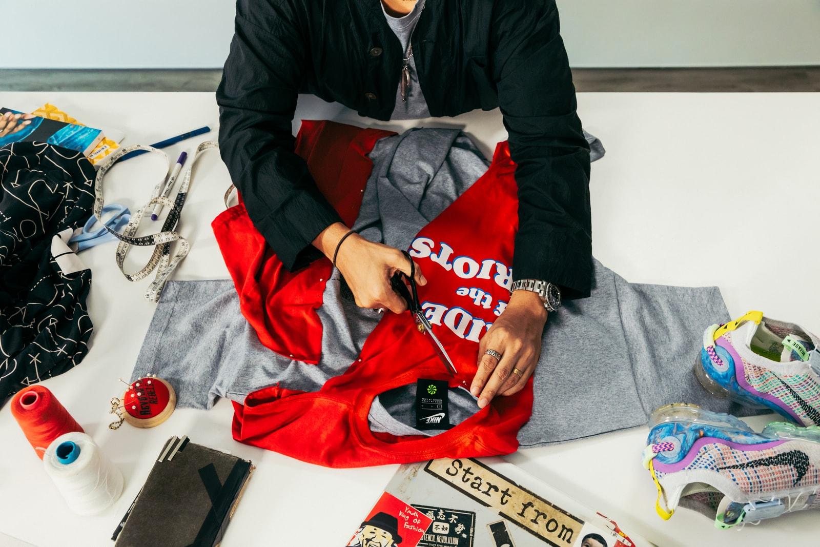 Nike 永續時尚-設計師 Jason Lee 升級重製舊衣配搭 Air VaporMax 2020