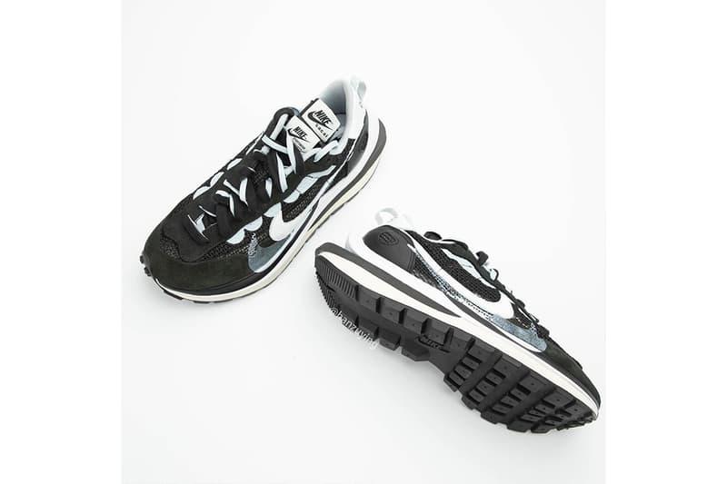 近賞 sacai x Nike Vaporwaffle 黑白配色清晰細節圖輯