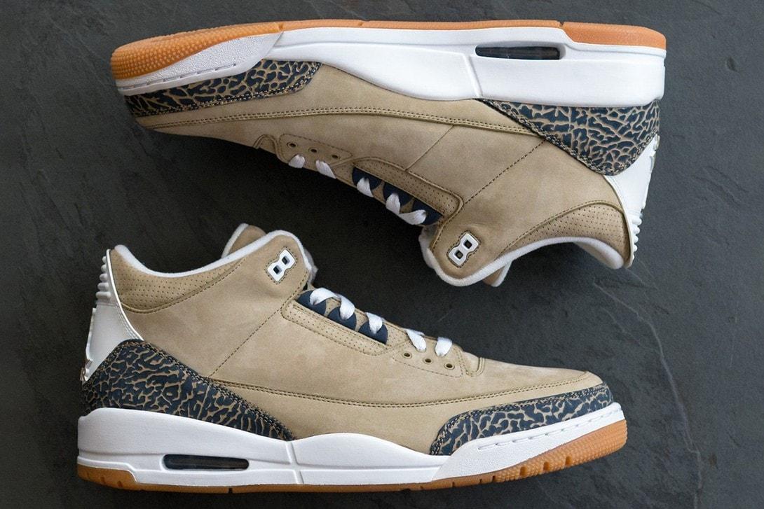 率先預覽極罕有 Air Jordan 3「Denim」和「Khaki」Sample 鞋款