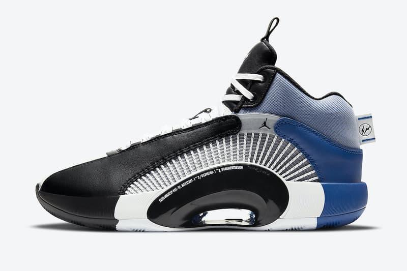 fragment design x Air Jordan 35 最新聯名鞋款官方圖輯正式曝光