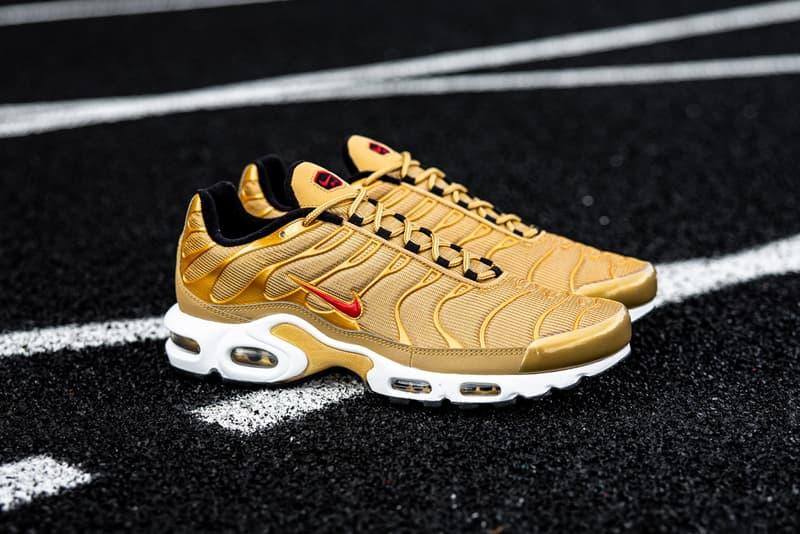 Nike Air Max Plus 人氣配色「Metallic Gold」即將重新補貨上架