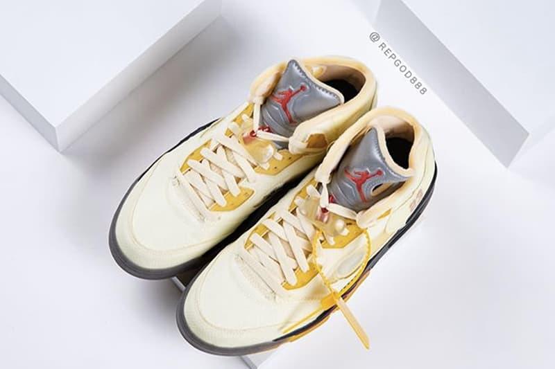 Off-White™ x Air Jordan 5 話題聯名配色「Sail」高清近賞圖輯再曝光