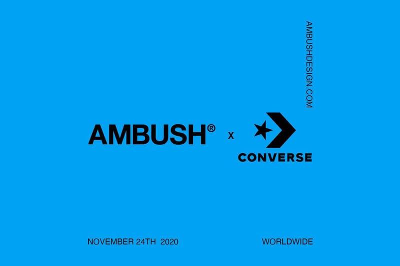 AMBUSH x Converse 全新聯乘系列鞋款突襲公開