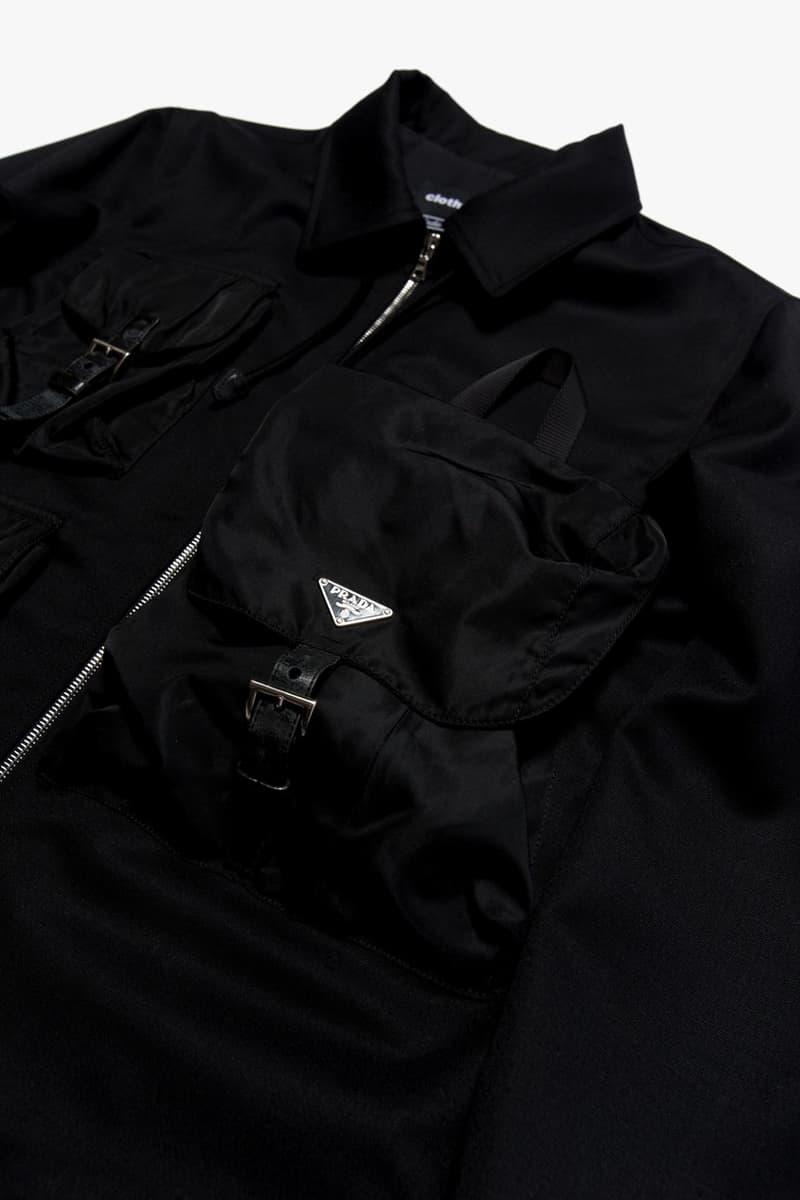 clothsurgeon 重塑 Prada 尼龍背包改造飛行夾克