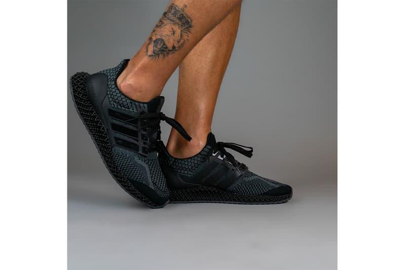 adidas 混種跑鞋 Ultra 4D 全新黑魂配色「Core Black」率先曝光