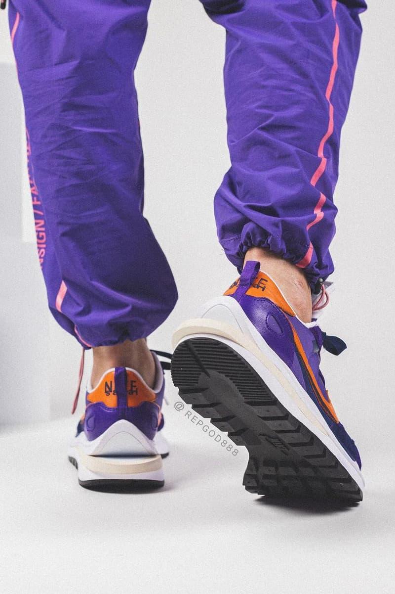 率先近賞 sacai x Nike Vaporwaffle 2021 春季聯名鞋款之上腳圖輯