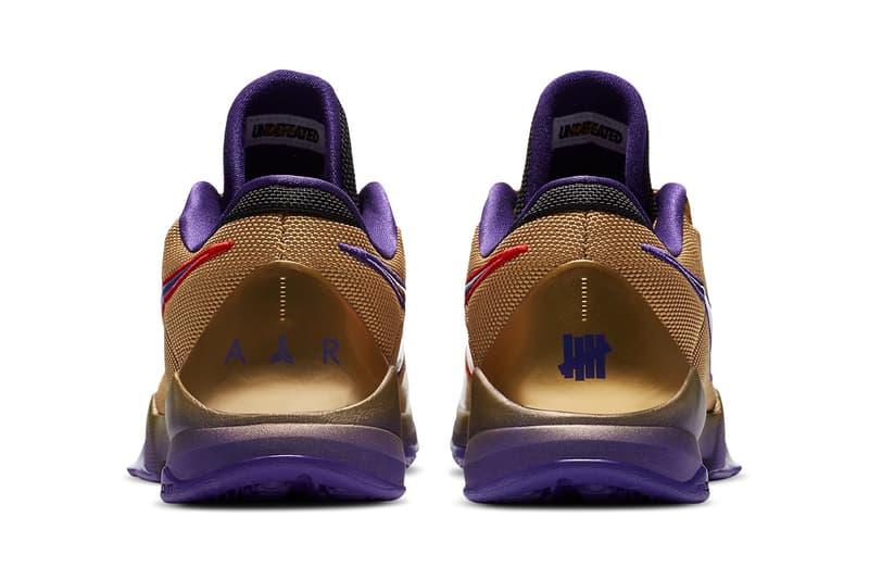 UNDEFEATED x Nike Kobe 5 Protro「Hall of Fame」聯乘鞋款發佈