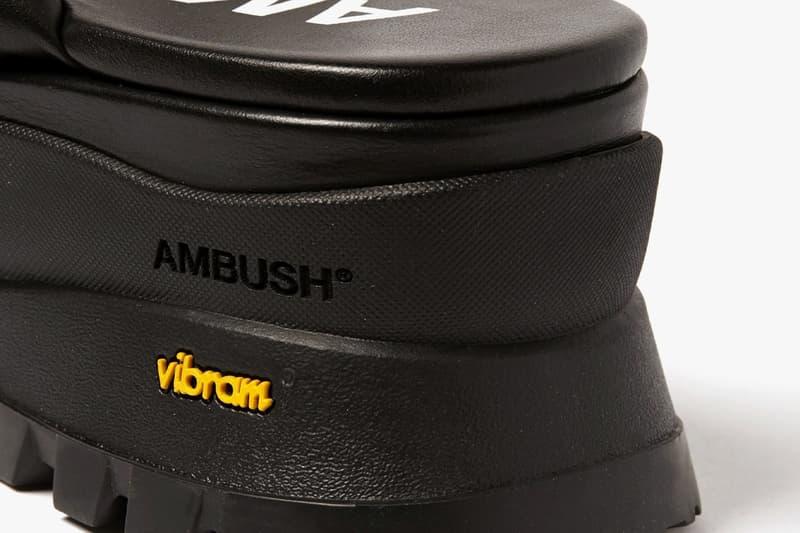 AMBUSH 推出全新黑魂皮革變種下駄