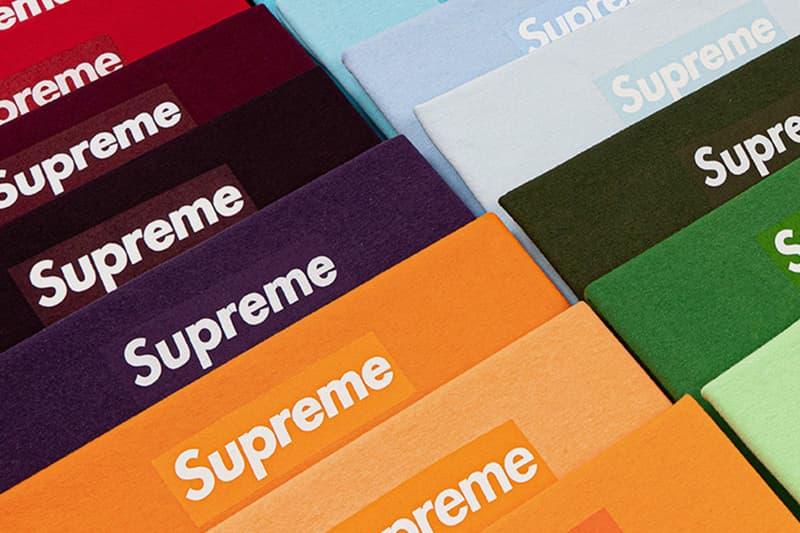 Supreme 全系列 Box Logo T-Shirt 預估拍售價格高達 $200 萬美元