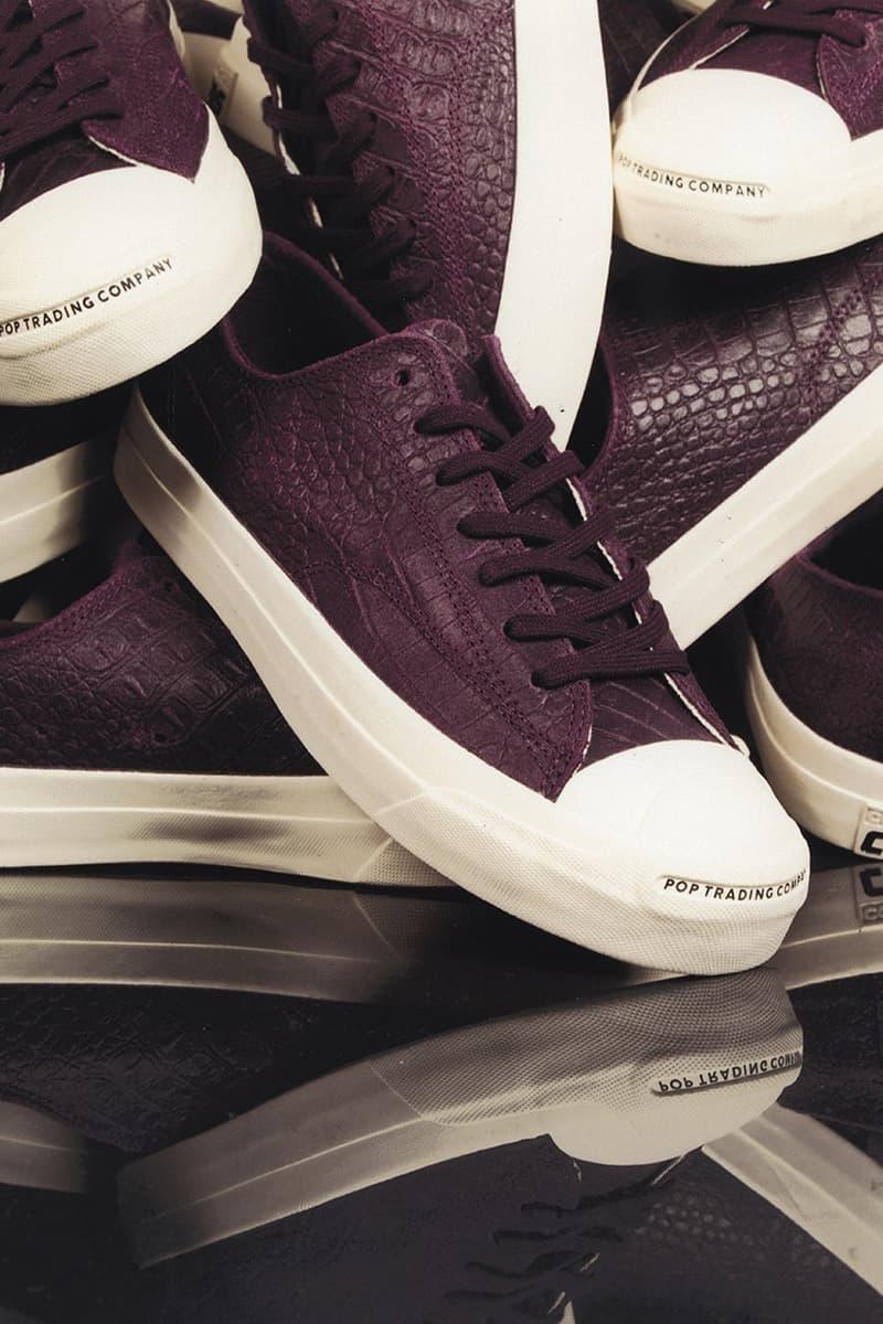 Pop Trading Company x Converse Jack Purcell 聯乘系列鞋款發佈