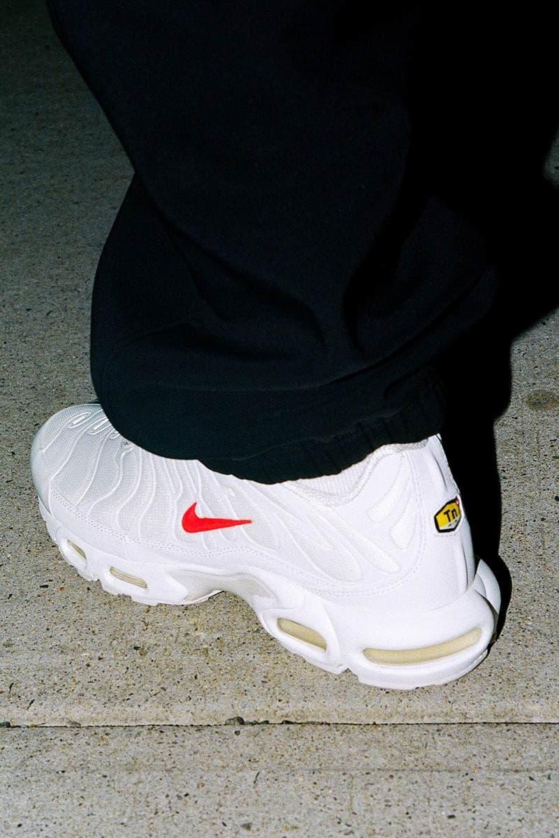 Supreme x Nike Air Max Plus 最新配色「White Red」本週正式發售