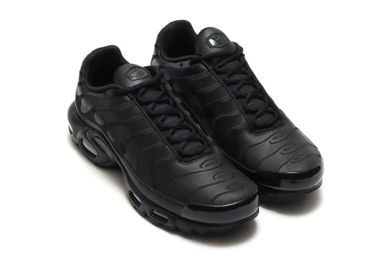 Nike Air Max Plus 推出全新皮革版本「Triple Black」配色