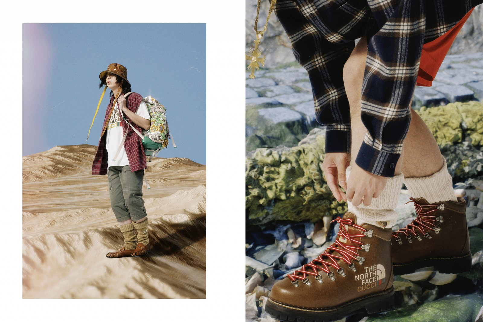 穿上 The North Face × Gucci 系列,展開虛擬歷險旅遊