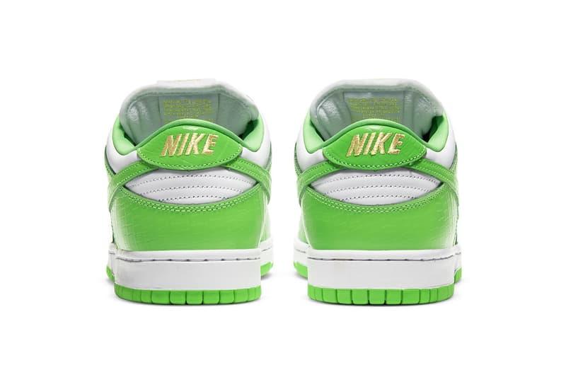Supreme x Nike SB Dunk Low 最新聯名配色「Mean Green」正式登場