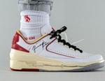 近賞 Off-White™ x Air Jordan 2 Low 白紅配色聯名鞋款上腳圖輯