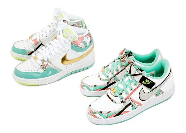 Nike Womens Court Force Hi   Vandal Low