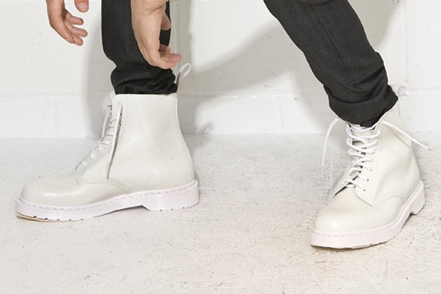 Dr. Martens White Combat Boot   HYPEBEAST