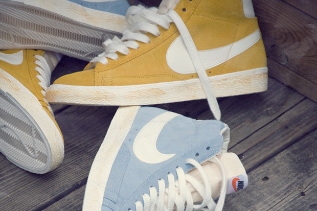 the best attitude 42c6f 42621 Nike Blazer Hi Vintage Yellow   Blue   HYPEBEAST