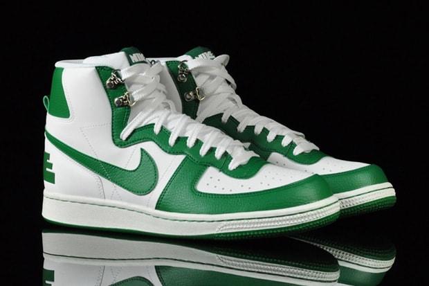 save off eb643 1bd7d Nike Terminator High Basic White Green