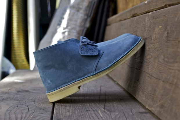 Clarks Originals Slate Blue Desert Boot
