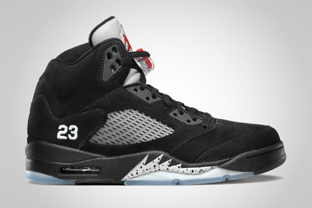 low priced 6bc00 ba3fc Air Jordan 5 Retro Black Varsity Red - Metallic Silver. Jordan Brand offers  an official look into this month s upcoming AJ V, one of the more frequently