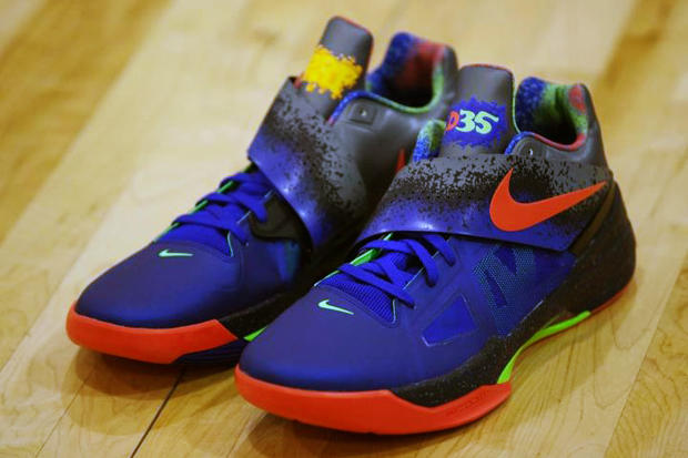 "c7fc8f696ab Nike Zoom KD IV ""Nerf"". Kevin Durant of the Oklahoma City Thunder recently  held a charity basketball game including other"