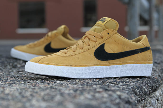 "7226a9a7d8b0 The Nike SB Zoom Bruin has been re-imagined in this ""Golden Straw"" colorway  for Holiday 2011. A"
