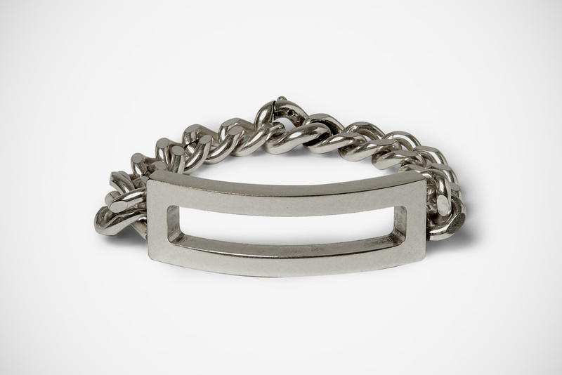 The Metallic Offering From Maison Martin Margiela Is Silver Toned Br With A Three Section Chain