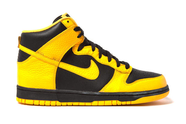 new concept 6266d d683d Fresh for early 2012, Nike presents a fan favorite, the Dunk High in a  Black and Maize Yellow