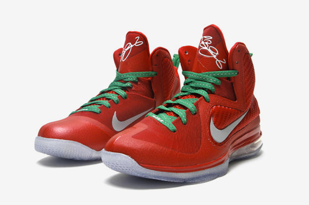 cheap for discount afde1 6b714 Designed with colorful elements that evoke the yuletide spirit, the Nike  LeBron 9 is back yet again