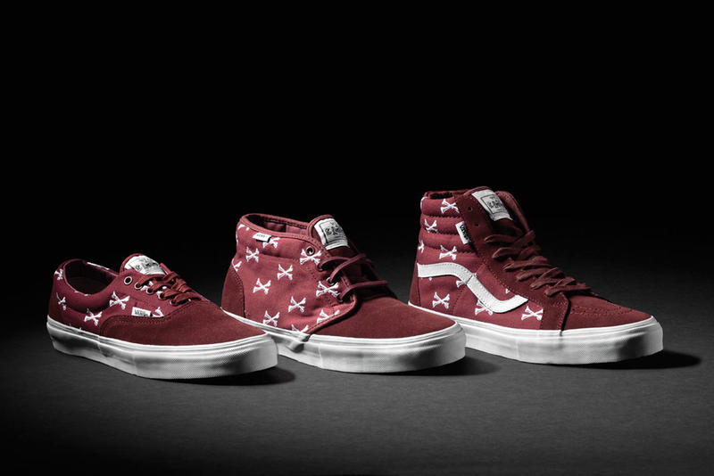 9f9c6c226f WTAPS x Vans Syndicate Burgundy Bones Pack. Vans Syndicate partners up with  WTAPS once again – this time on a special holiday footwear project.