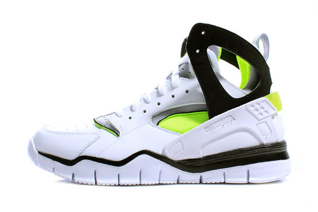 check out ac3d6 e7d22 Nike 2012 Air Huarache Free Basketball White Black Volt. In line with the  Air Max 90 that was released earlier this month, Nike is once again  bringing back