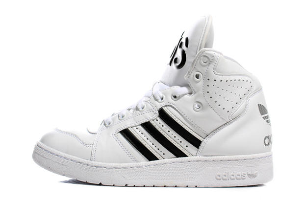 fc6d0022fe4a ... JS Instinct Hi White. The adidas Originals by Jeremy Scott collection  is often characterized by bold and over-the-top