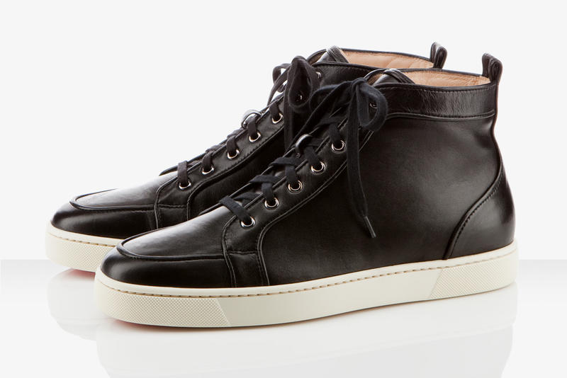 low priced ad07e 28528 Christian Louboutin Black Leather Rantus Orlato Flat | HYPEBEAST