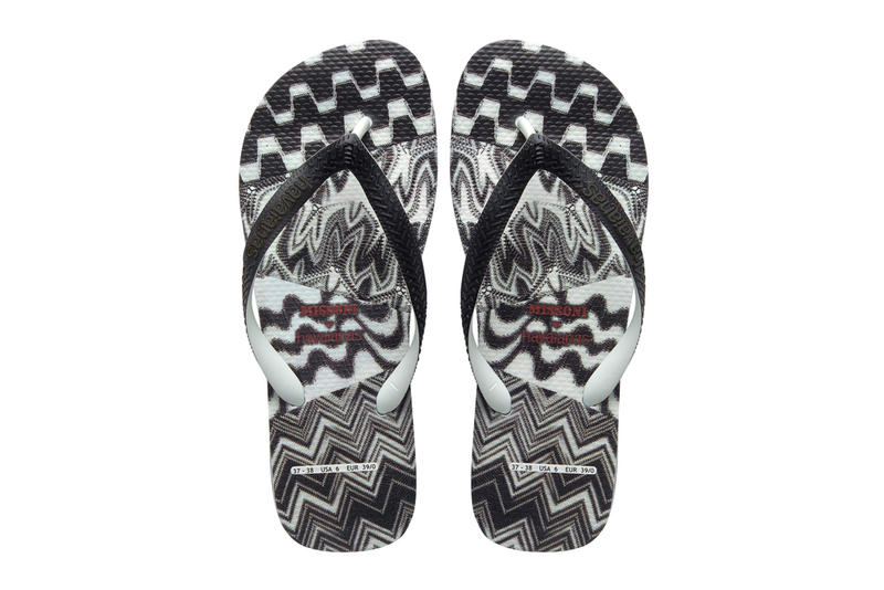 71e72bdd9e1d4e Newly offered up from Missoni in a collaborative effort alongside footwear  brand Havaianas is this