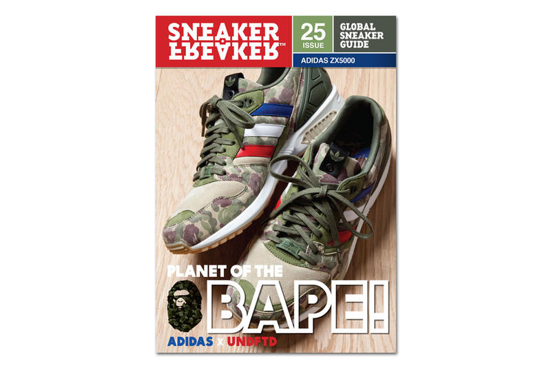 a769d9061ec BAPE x UNDFTD x adidas ZX5000 on the Cover of Sneaker Freaker Issue ...