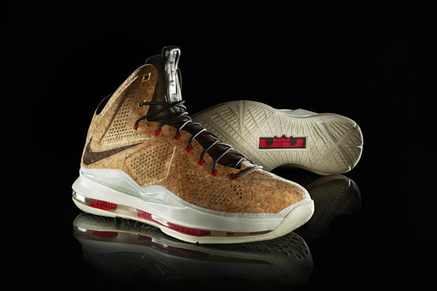 more photos 09d3e 17e46 Nike Sportswear LeBron X Cork Edition. LeBron James s sweet taste of  victory was celebrated with a champagne toast on June 21 to mark his