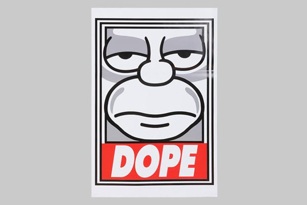 """best sneakers bae97 bf54f The Simpsons x Shepard Fairey """"Dope"""" Poster"""